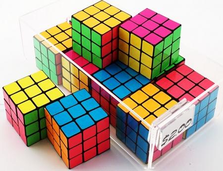 Neon Puzzle Cubes
