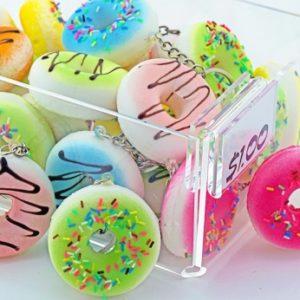 "Squishy Doughnut Keychain - 2"""