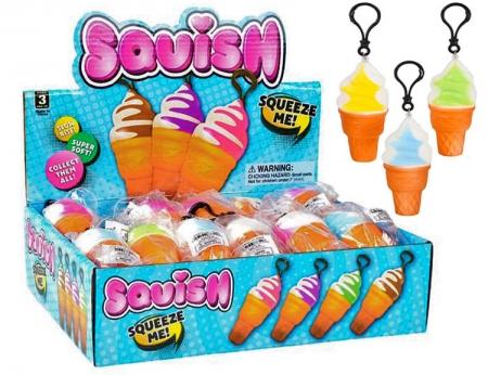 Squishy Ice Cream Cone Clip