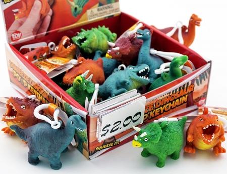 Dinosaur Squeeze Poo Keychain