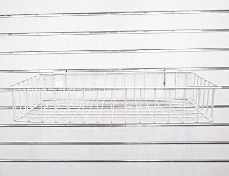 """Slatwall Wire Basket - 24"""""""