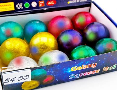 Light Up Galaxy Squish Ball