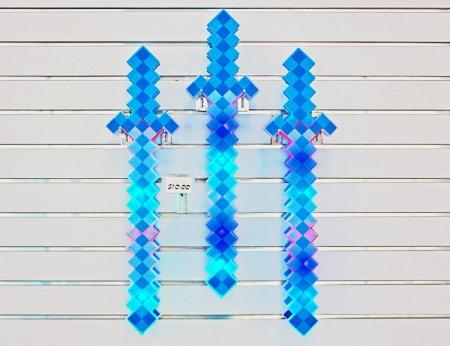 """Flashing Pixel Sword - 24"""""""
