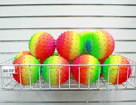 """Rainbow Knobby Ball - 5"""""""