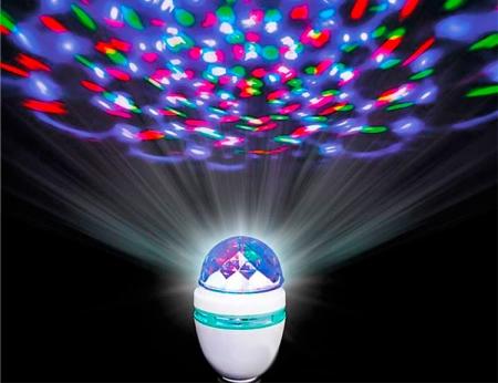 LED Disco Rotating Bulb