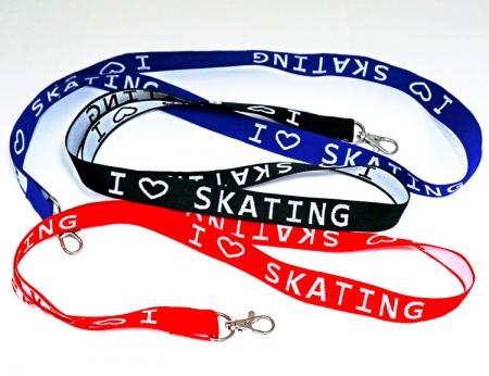 I Love Skating Lanyard