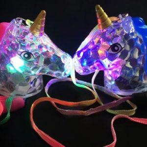 Flashing Unicorn Head Necklace