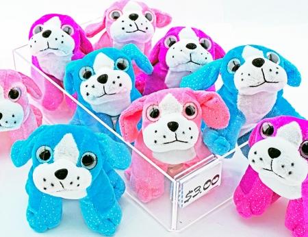 Plush Glitter Sitting Dogs